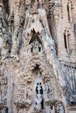 Nativity Facade of the Basilica and Expiatory Church of the Holy Family. In Barcelona stock photo