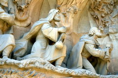 Nativity facade in la sagrada familia Royalty Free Stock Photography