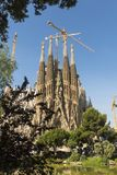Nativity facade of La Sagrada Familia - the impressive cathedral royalty free stock photography