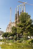 Nativity facade of La Sagrada Familia - the impressive cathedral royalty free stock image