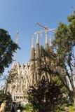 Nativity facade of La Sagrada Familia - the impressive cathedral Stock Photo