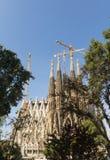 Nativity facade of La Sagrada Familia - the impressive cathedral Royalty Free Stock Photo