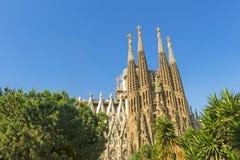 Nativity facade of La Sagrada Familia - the impressive cathedral Royalty Free Stock Image