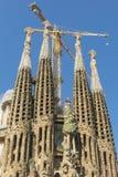 Nativity facade of La Sagrada Familia - the impressive cathedral Stock Image