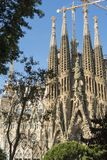 Nativity facade of La Sagrada Familia - the impressive cathedral royalty free stock photo