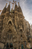 Nativity facade of Sagrada Familia, Barcelona. Stock Images