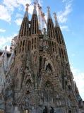 Nativity Facade of Sagrada Familia in Barcelona, Spain Stock Photos
