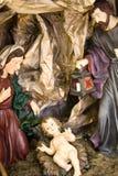 Nativity Figure Jesus, Marie And Joseph Royalty Free Stock Photos