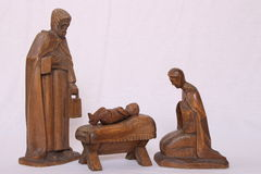 Nativity figures Royalty Free Stock Images