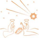stylized Jesus Nativity isolated Stock Image