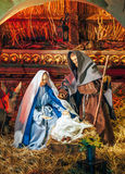 Nativity of Jesus beautiful scene Royalty Free Stock Image