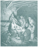 Nativity of Jesus illustration sketch Stock Images