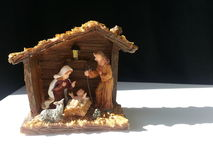 Nativity manger background Stock Photography