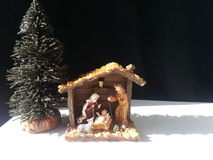 Nativity manger background Royalty Free Stock Image