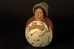 Nativity Mary. Naive figurine of Mary at the Nativity and creche character Stock Images