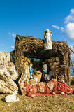 Nativity on the Mediterranean Sea Stock Photo