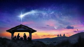 Free Nativity Of Jesus Scene With The Holy Family Stock Photos - 169621283