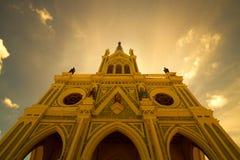 Nativity of Our Lady Cathedral, Bang Nok Khwaek,Big white cathed Royalty Free Stock Images