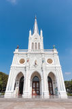 The Nativity of Our Lady Cathedral and blue sky stock image