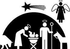 Nativity pictogram Stock Image