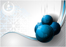 Nativity postcard. Communication Design for Christmas with nativity and Christmas balls elements Royalty Free Stock Photo