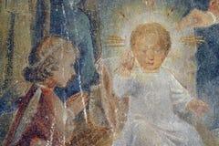 Nativity Scene. Born of Jesus Christ Royalty Free Stock Photo