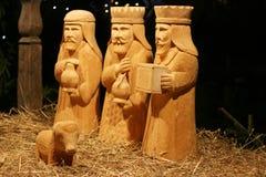 Nativity scene. Part of nativity scene, three wise men Stock Photos