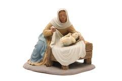 Nativity scene. Figure of the Virgin Mary to represent the nativity scene stock photo