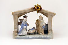 Nativity Scene. Retro nativity scene on a white background vector illustration