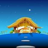 Nativity Scene. Illustration of nativity scene showing birth of Jesus Stock Image