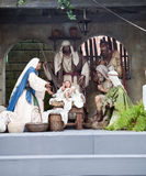 Nativity scene. In St. Joseph, the Virgin Mary and the Child God Royalty Free Stock Photo