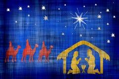 Nativity scene. Nativity scene presented during the night of Christmas Stock Image