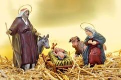 Nativity scene. Figures representing nativity scene in the manger royalty free stock photo
