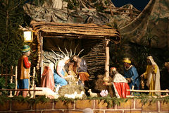 Nativity scene. This is wonderful nativity scene from the a church royalty free stock photo