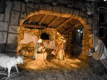 Nativity scene. Traditional image of the Holy Family Stock Photos