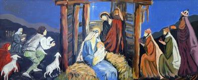 Nativity Scene. Birth of Jesus royalty free stock photography