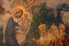 Nativity Scene. Birth of Jesus, Adoration of the Magi stock image