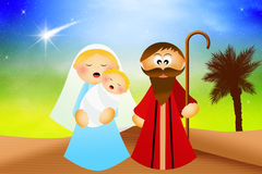 Nativity scene cartoon Royalty Free Stock Photo