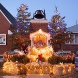 Nativity Scene at Catholic Church royalty free stock image