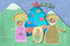 Nativity Scene Christmas card Stock Image