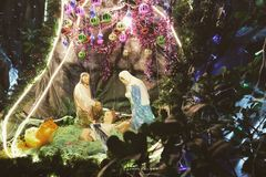 Nativity Scene Christmas Decor Royalty Free Stock Photos