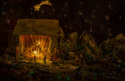 Nativity Scene Christmas. A christmas scene. The Holy family, Jesus, Joseph & Mary Stock Image