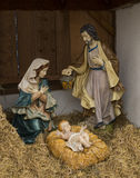Nativity Scene Christmas. A christmas scene. The Holy family, Jesus, Joseph & Mary all togethe. Germany Stock Image