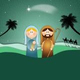Nativity scene for Christmas Stock Image