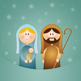 Nativity scene for Christmas Stock Photography