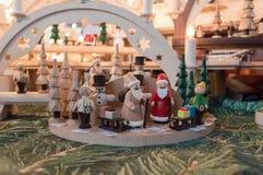 Nativity Scene in Christmas Market Stock Photography