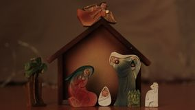 Nativity scene stock video