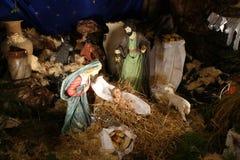 Nativity scene, Church of the Miracle, Cana. Israel Royalty Free Stock Photos