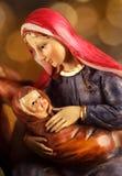 Nativity. Scene - close-up of Christmas decoration Royalty Free Stock Photo