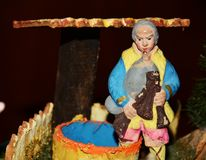 Nativity scene, colorful detail royalty free stock photography